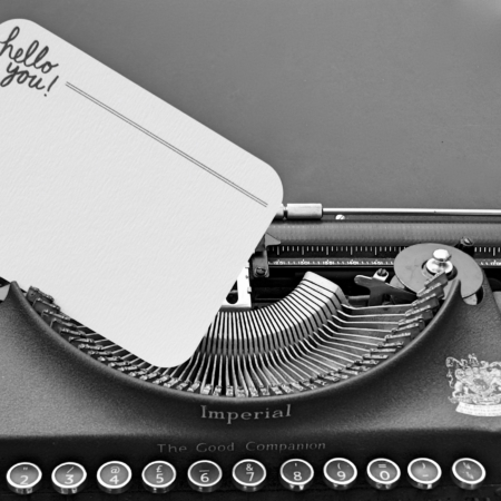 hello you katie lemon note books in a typewriter home of juniper