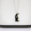 penguin necklace in a box tagua nut and sterling silver home of juniper