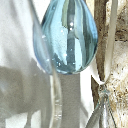 nging glass bauble - fair trade and handmade