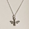 sterling silver bee necklace made in the uk home of juniper