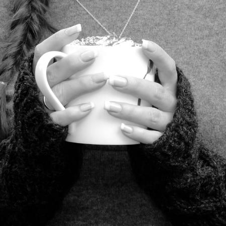 grey knit fingerless mittens fair trade