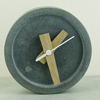 wild and wood concrete clock home of juniper