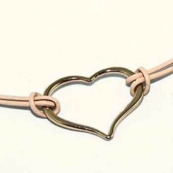 Open Heart Rose-Gold Bracelet