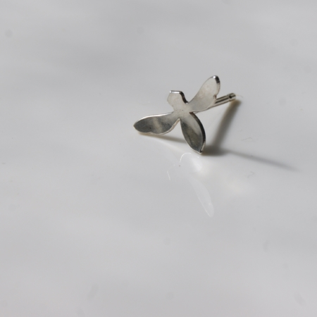 sterling silver bee earring on white