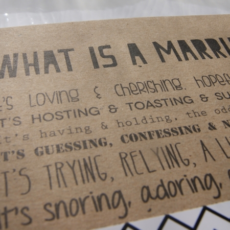 Marriage notebook - made in the UK