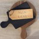 man cave keyring on wood boards home of juniper