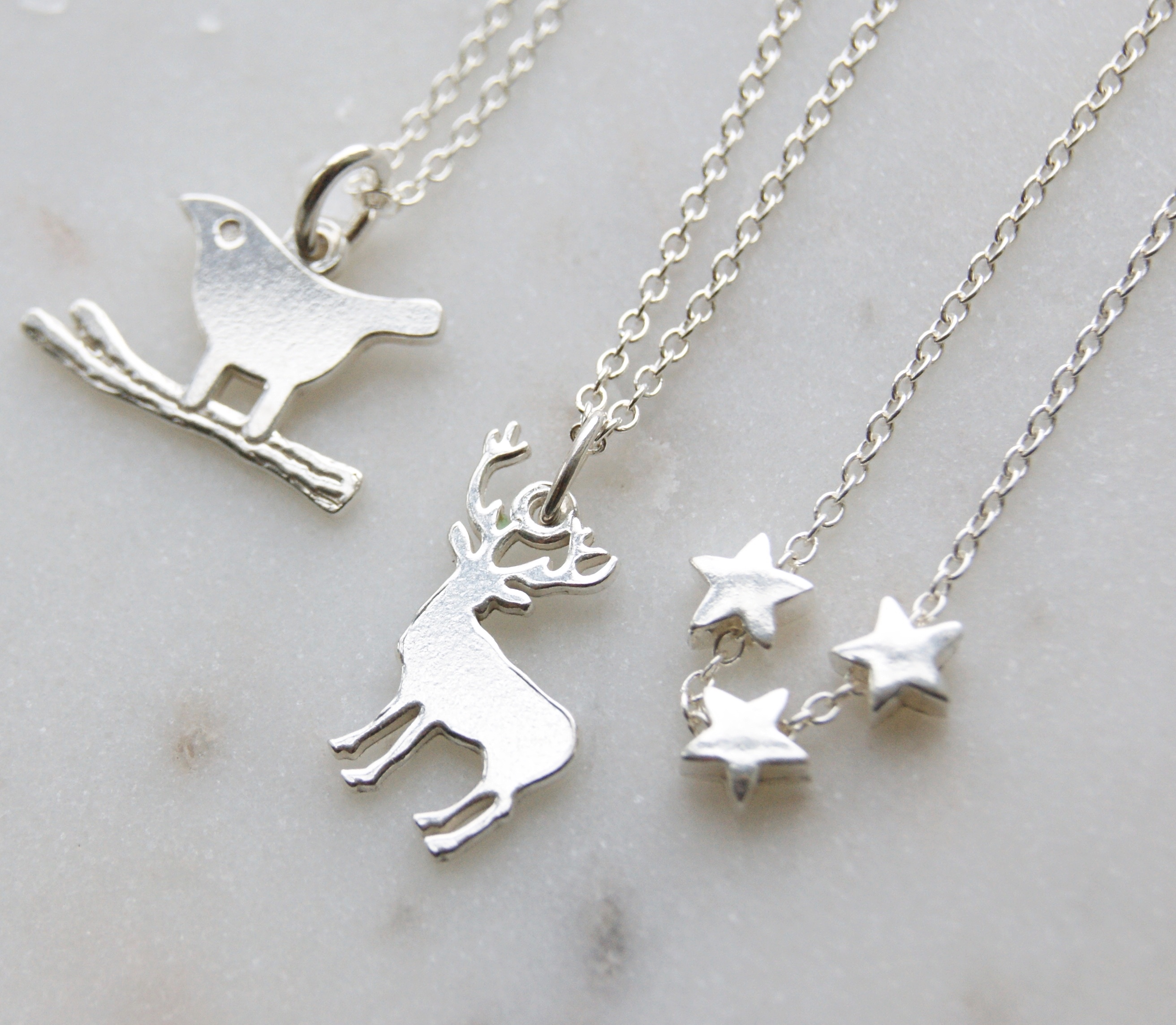 for listing silver fullxfull dainty deer pendant animal stag necklace il women