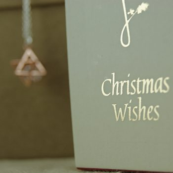 christmas wishes candle and star necklace
