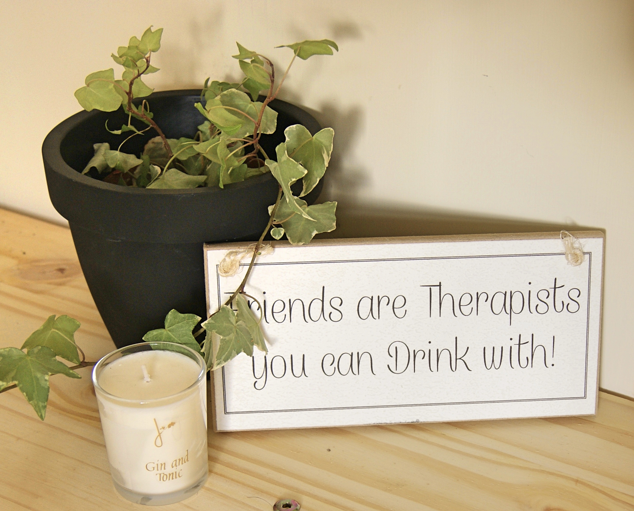 Wedding Gift For Friend Abroad : Friends Are Therapists You Can Drink With ...Funny Sign- Gift: Home of ...