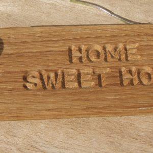 home sweet home keyring