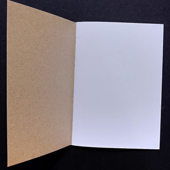 open recycled paper notebook home of juniper