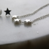 star necklace and star moon earrings sterling silver