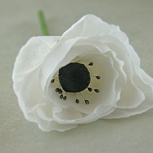 anemone - paper flower handmade in the uk