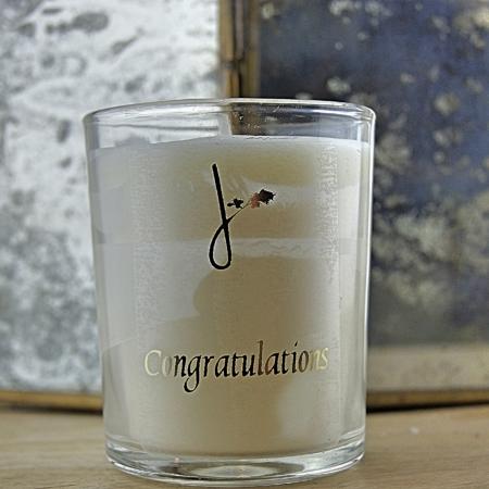 congratulations candle - vanilla scented