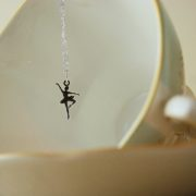 sterling silver ballerina necklace made in the UK