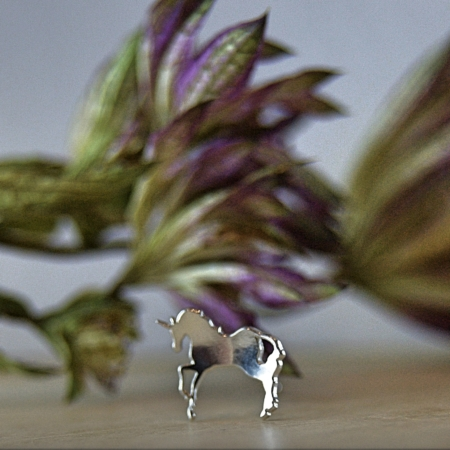 Unicorn Earrings - Sterling Silver