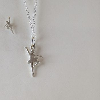 sterling silver ballerina necklace and ballerina earrings made in the UK