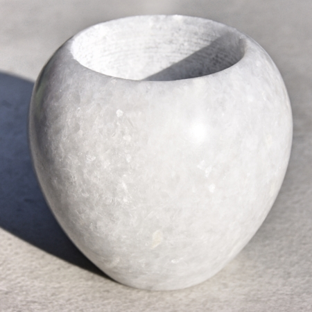 white marble candle holder fits a tea light