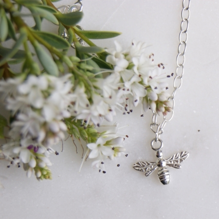 bee-bracelet-sterling-silver-made-cornwall-homeofjuniper