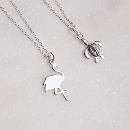flamingo-necklace-turtle-necklace-made-cornwall-homeofjuniper