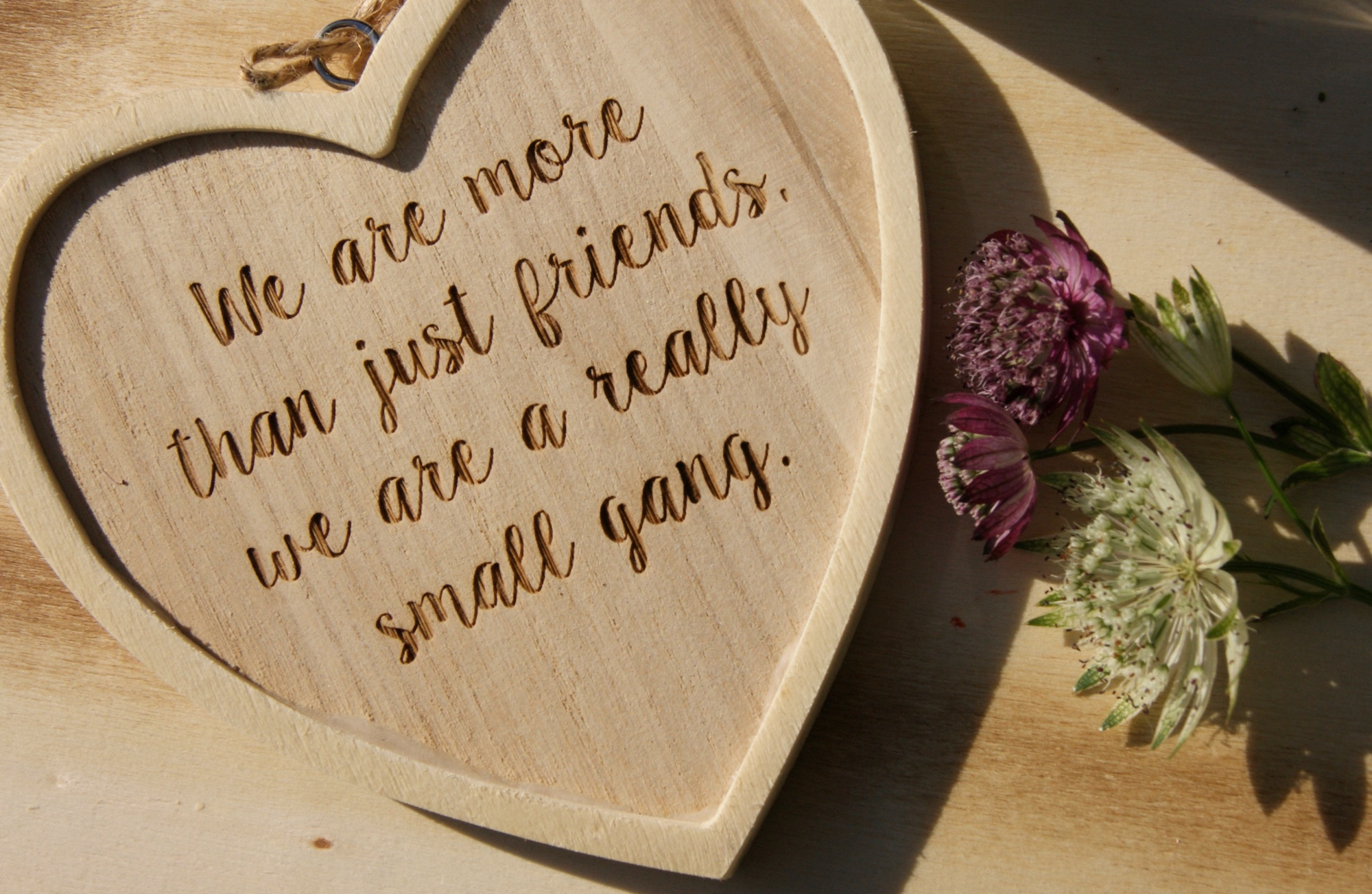 Friends quote heart sign wood home: home of la juniper gift