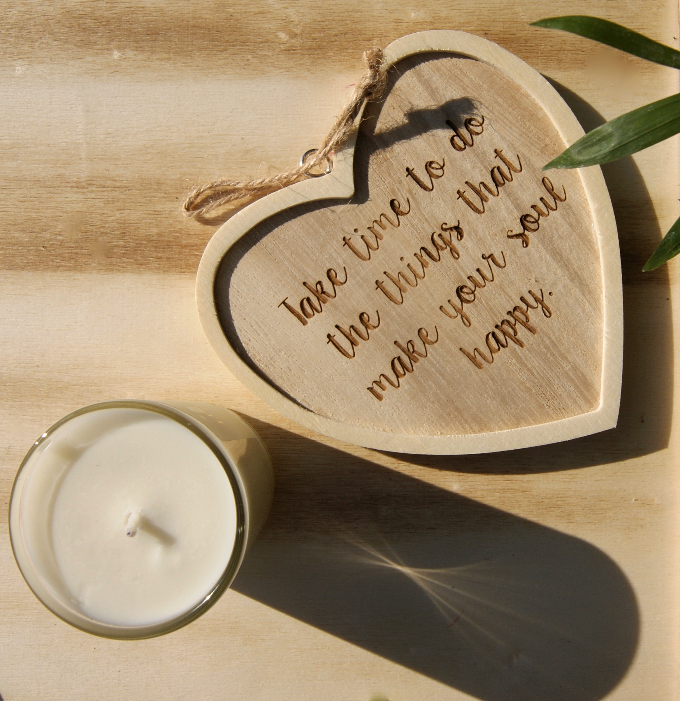 Soul Happy Quote Heart Sign-Wood-Gift-Home: Home of La Juniper