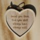 love quote hanging heart decoration home of juniper