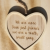 friend quote hanging heart decoration - home of juniper