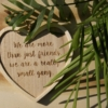 Hanging heart friend quote decorations