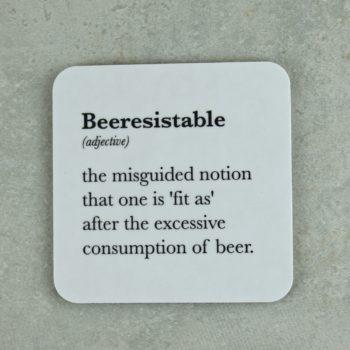 Beeresistable drinks coaster