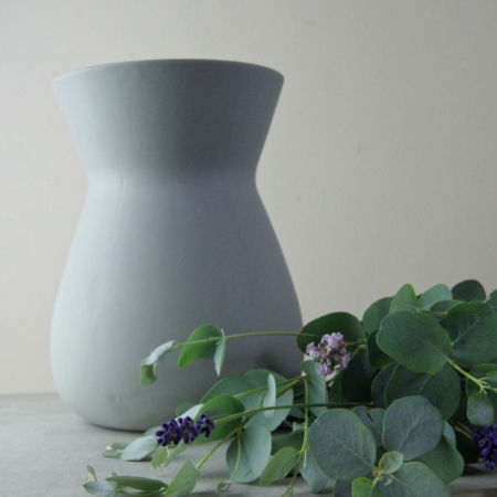 arge light grey sue pryke vase at home of juniper