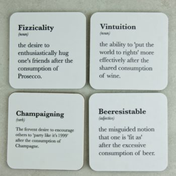 Funny Quote Drink Coasters