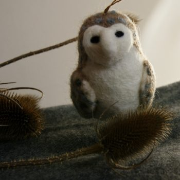 felt barn owl fair trade and made in the uk