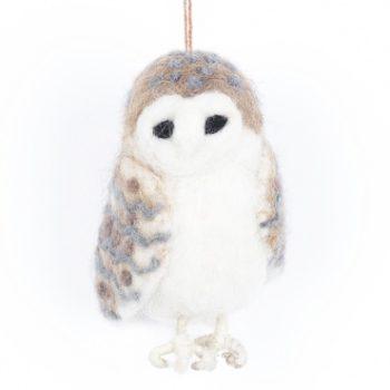 felt barn owl decoration- home of juniper