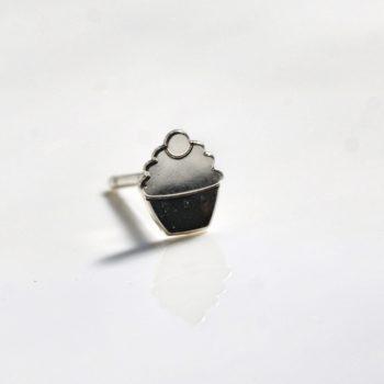 sterling silver cupcake earrings