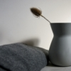 grey sue pryke vase tease and wool blanket all from home of juniper