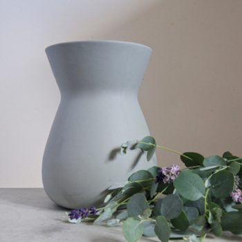 large light grey sue pryke vase at home of juniper