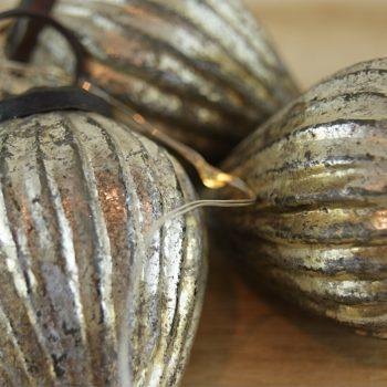 fairtrade antique gold christmas baubles mixed home of juniper