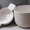 and tea strainer earternware by sue pryke for home of juniper