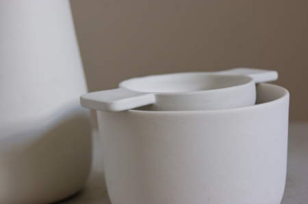 tea strainer and bowl by sue pryke close up home of juniper