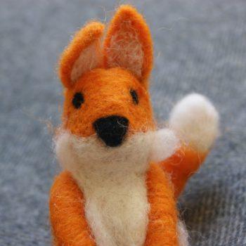 felt fox decoration sat on blanket home of juniper fair trade