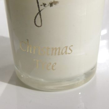 christmas tree scented candle - home of juniper