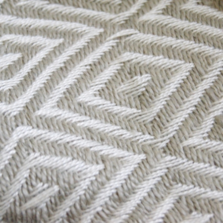 PET Yarn Diamond weave blanket throw recycled bottles