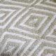 PET Yarn Diamond weave blanket throw recycled bottles
