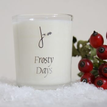 frosty day candle home of juniper