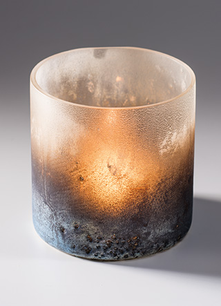 Open Glass Candle Holder- Fair Trade