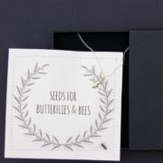black letterbox bee gift set - home of juniper