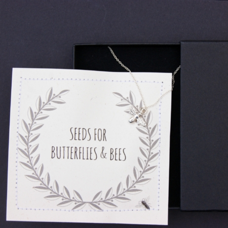 black letterbox bee gift set - home of juniper