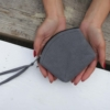 Grey Cotton Purse - Fair Trade