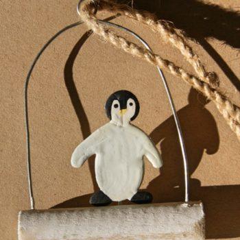 hanging arctic penguin decoration
